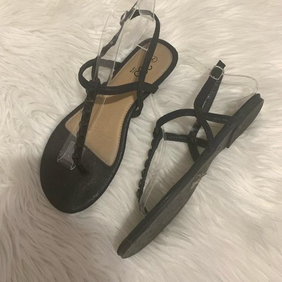 385 fifth jewel T-Strap flat sandals